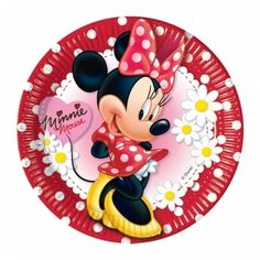 Minnie Mouse Daisies Party Plates, Pack of 10