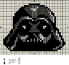 Star Wars Darth Vader perler bead pattern. Might make for hubby... Don't know if…