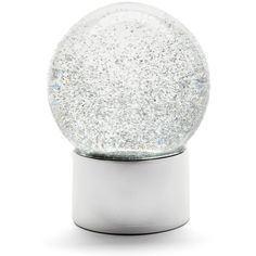 Nordstrom At Home Medium Glitter Snow Globe ($29) ❤ liked on Polyvore featuring home, home decor, holiday decorations, silver, silver home accessories, battery operated snow globe, silver home decor and glitter snow globe