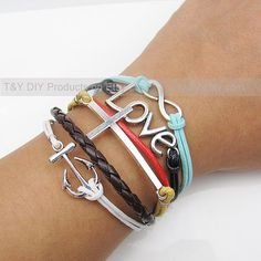 Infinity Bracelet Love Bracelet Cross Bracelet Anchor by TYdiy, $9.99