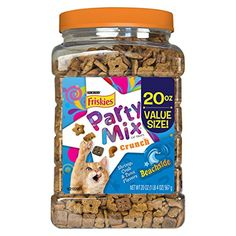 Purina Friskies Party Mix, Beachside Crunch, Shrimp, Crab and Tuna Flavors, 20-Ounce Canister, Pack of 1 - http://www.darrenblogs.com/2016/11/purina-friskies-party-mix-beachside-crunch-shrimp-crab-and-tuna-flavors-20-ounce-canister-pack-of-1/