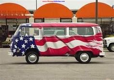 patriotic VW Van