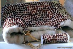 http://www.designspinka.pl/powiew-luksusu/ Jedyna, unikatowa autorska torebka dwustronna naturalna lakierowana skóra i biszkoptowa norka Tissavel
