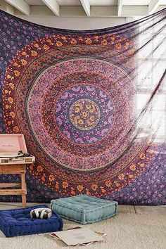 Large Hippie Tapestry, Hippy Mandala Bohemian Tapestries, Indian Dorm Decor, Psychedelic Tapestry Wall Hanging Ethnic Decorative Urban Tapestry inches) (Multi Color) - Home Decor Ideas Boho Dorm Room, Bohemian Dorm, Bohemian Bedspread, Bohemian Tapestry, Mandala Tapestry, Hippie Tapestries, Indian Tapestry, Hippie Bedding, Cheap Tapestries