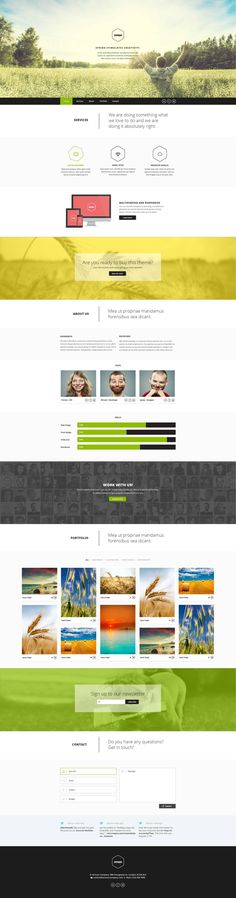 PSD Templates - Vernum - One Page Multipurpose PSD Template - Zizaza item for sale $8