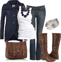 """Navy, Navy, Navy"" by stephanie-lindner on Polyvore"