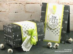 Karte & Box Weihnachtslieder - Stampin Up (Weihnachtliche Etiketten) - www.zeit-zum-basteln.de