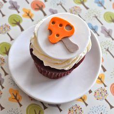 lovely mushroom cupcake topper