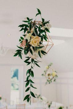 Geometric style. Image: Peppermint Love Photography #wedding #greenery #decor