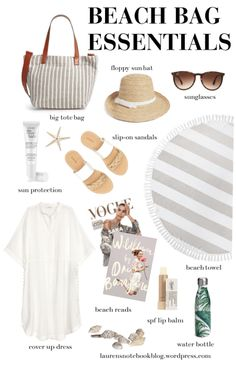 Beach Bag Essentials – Summer Essentials - To Have a Nice Day Travel Bag Essentials, Beach Essentials, Travel Bags, Travel Packing, Beach Vacation Packing, Holiday Essentials, Travel Ideas, Beach Vacation Outfits, Fashion Clothes