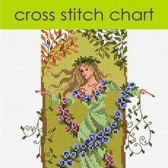 Gaia the Earth Goddess Cross Stitch Chart PDF, Mythical Fantasy Cross Stitch £6.00