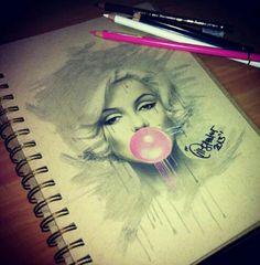 Marilyn Monroe art bubble