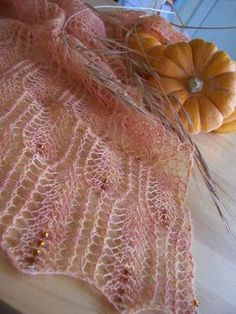 Waves of Grain scarf knitting pattern from Knitty. One of my many want-to-do projects.