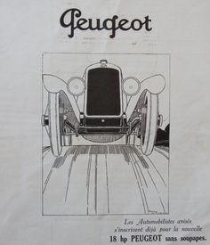 Voitures Peugeot  Publicité française des années par someoldnews, $11,00