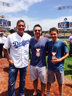 Jim Caviezel and EP Greg Plageman At the Dodgers Game