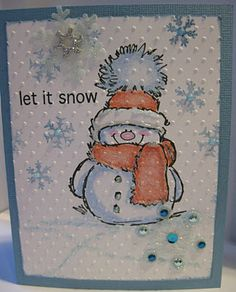Really adorable Christmas card—let it snow