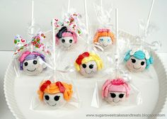 Lalaloopsy Cake Pops Baking Cupcakes, Cupcake Cookies, Pretty Cakes, Cute Cakes, Chocolate Pops, Chocolate Cake, Cake Push Pops, Easter Cake Pops, Cupcakes Decorados