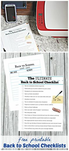 FREE printable Back to School checklist | get ready for first day of school | back to school organization