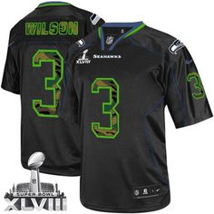 nfl kicker jersey numbers Nike Seahawks Russell Wilson New Lights Out Black  Men s Stitched NFL Elite Jersey e9abb1d50