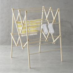 crate and barrel | large wood drying rack