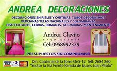 Andrea Decoración, Fabrica de Cortinas, Pisos Flotantes