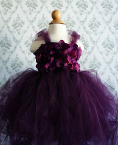 Gorgeous Flower Girl Tutu Dress Photo Prop in Deep by FashionTouch, $60.00