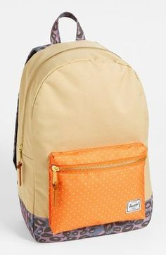 Herschel Supply Co Settlement Mid Volume Backpack Khaki Orange Purple  Leopard Herschel Herschel Bag 55e0b690ebcf4