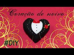 DIY: Coração de Noivo - Lembrancinhas para casamento - YouTube