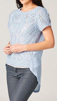 Crochet Averly Top in Prussian Blue