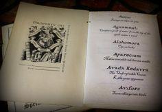 Harry Potter printable Little Book of Spells