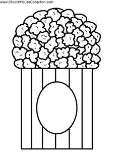 Pop Open A Good Book.The Bible- Popcorn Cutout Craft or Bulletin Board Idea Popcorn Crafts, Popcorn Theme, Movie Popcorn, Pop Popcorn, Sunday School Coloring Pages, Coloring Pages For Kids, Coloring Sheets, Creative Activities For Kids, Crafts For Kids