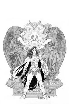Frank Cho variant cover for Wonder Woman #4 (2016).