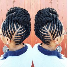 Natural Braids & Flat Twist Updo Styles To Try This Season Flat Twist Hairstyles, Flat Twist Updo, French Twist Hair, Braided Hairstyles, Black Hairstyles, Hairstyles 2016, Hairstyles Pictures, Natural Updo Hairstyles, Flat Twist Styles