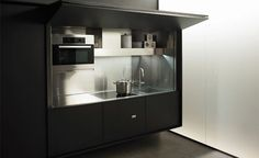 cocinas dentro de un armario 11