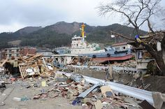 Natural Disaster, Trauma and Activism in the Art of Takamine Tadasu Japan Earthquake, Earthquake And Tsunami, Unique Buildings, Tug Boats, Pacific Coast, Natural Disasters, View Image, Small Towns, Trauma