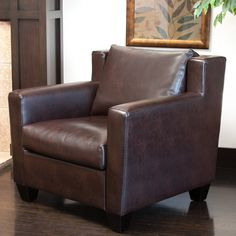 Chesterfield Brown Leather Club Chair