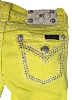 Miss Me Size 12 Girls / Kids Lemon Skinny Jeans JK5847S NWT #MissMe #SlimSkinny
