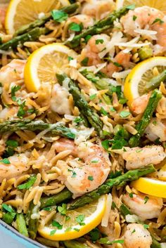 Tried it and loved it! One Pot Lemon Shrimp Pasta – so easy and delicious. Even the orzo gets cooked right in the pot! Orzo Recipes, Grilled Shrimp Recipes, Fish Recipes, Seafood Recipes, Cooking Recipes, Healthy Recipes, Cooking Ideas, Food Ideas, Recipies
