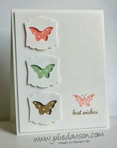 Julie's Stamping Spot -- Stampin' Up! Project Ideas Posted Daily: Clean & Simple Bitty Butterfly Card