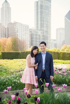 Lurie Gardens Engagement Session, Spring