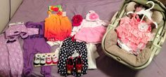 Already have tons of baby clothes from every one :) she is going to be one spoiled girl