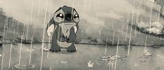 Perro acompañando a su amigo 1 stich llorando