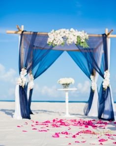 Navy Wedding Arch, Nautical Beach Wedding