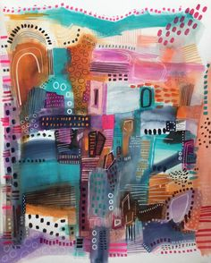 "Saatchi Art Artist Melanie Biehle; Painting, ""Assorted Charms"" #art"