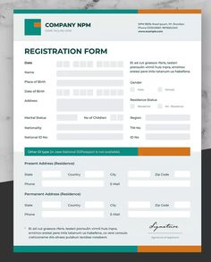 Clean Invoice Design by afahmy on Envato Elements Form Design, Design Ideas, Graphic Design, Invoice Design Template, Templates, Registration Form Sample, Emergency Contact Form, Corporate Brochure Design