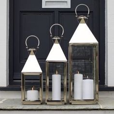 Tall Stainless Steel Candle Lantern