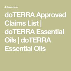 doTERRA Approved Cla