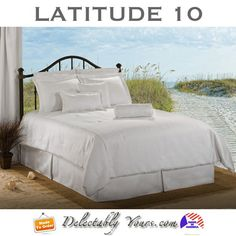 Latitude 10 White Bedding ready for you to add your pops of color too!