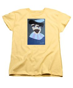 Patrick Francis Women's Banana Designer T-Shirt featuring the painting Young Rembrandt In A Plumed Hat 2014 - After Rembrandt by Patrick Francis