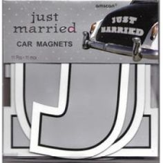 Just Married Car Magnets [267-248890Just Married Car Magne] : Wholesale Wedding Supplies, Discount Wedding Favors, Party Favors, and Bulk Event Supplies